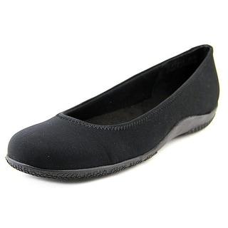 Walking Cradles Dee Women Round Toe Synthetic Black Flats