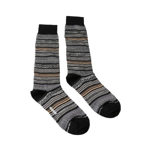 Missoni GM00CMU5236 0004 Gray/Tan Knee Length Socks