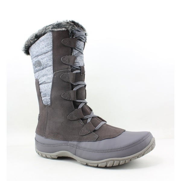 1881d4f03 Shop The North Face Womens Nuptse Purna Brown Snow Boots Size 10.5 ...