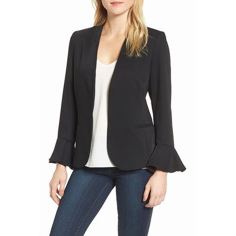 Chelsea28 Black Women's Size Medium M Bell Sleeve Blazer Jacket