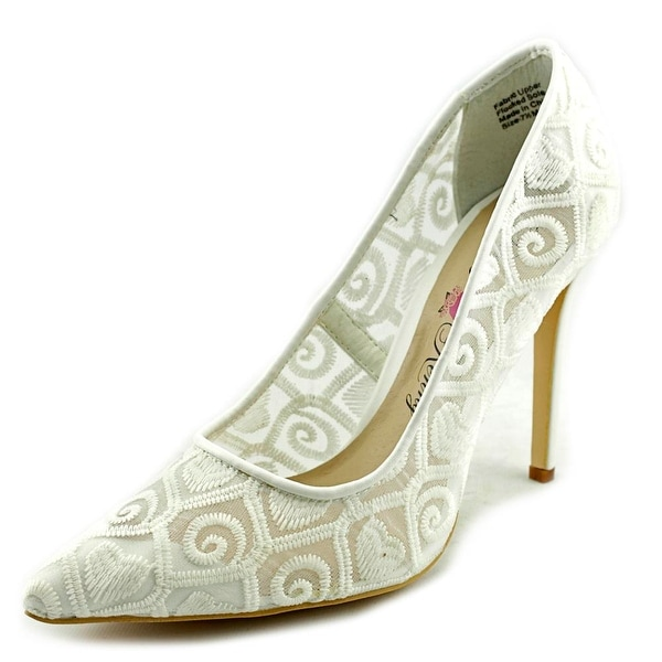 Penny Loves Kenny Tender Women Pointed Toe Canvas White Heels