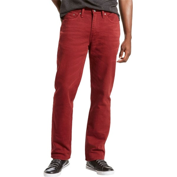 Levi's Mens 514 Straight Leg Jeans, Red, 32W x 32L. Opens flyout.