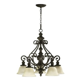 Quorum International 6432-5 Five Light Chandelier from the Fulton Collection