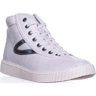 Tretorn Nylite Bold Platform Fashion Sneakers, Vintage White - 7 us / 38 eu