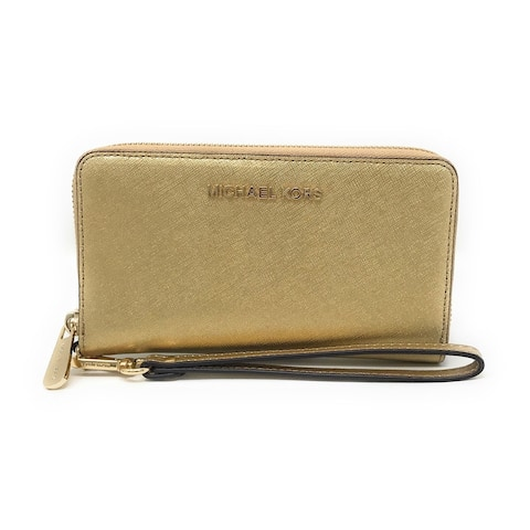 9edddf0998a679 Michael Kors Jet Set Travel Large Multifunction Smartphone Saffiano Leather  Wristlet Case