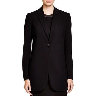 Theory Womens Geltha One-Button Blazer Open Back Notch Collar