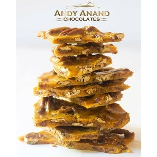 Link to Andy Anand Old Fashioned Handmade Pecan Brittle made with Real Honey, Vegan 1lbs Similar Items in Gourmet Food Baskets
