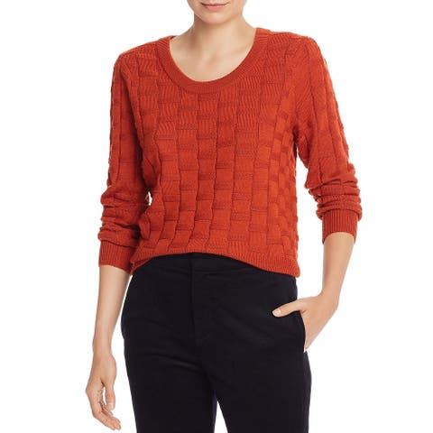 Joie Womens Florente Sweater Basket-Weave Hi-Low - Autumn