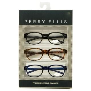 perry ellis mens 3 multi pack plastic reading glasses 15
