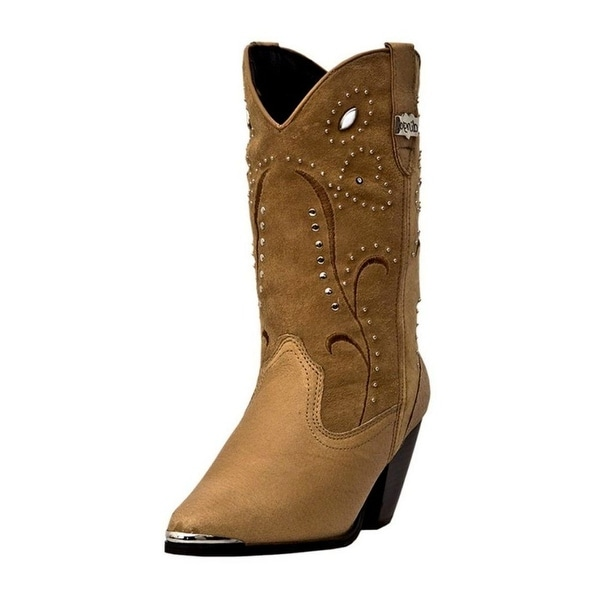 Dingo Fashion Boots Womens Leather Ava Studded Chestnut DI 588
