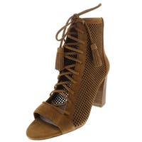 Marc Fisher Womens Shaini Booties Perforated Suede - 9 Medium (B,M)