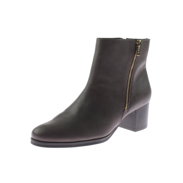 Aerosoles Womens Boomerang Ankle Boots Faux Leather Round Toe