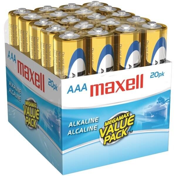 Maxell 723849 - Lr0320Mp Alkaline Batteries (Aaa; 20 Pk; Brick)