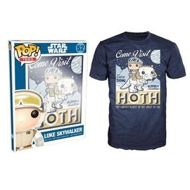 Funko Pop Blue Star Wars Visit Hoth Poster T-Shirt
