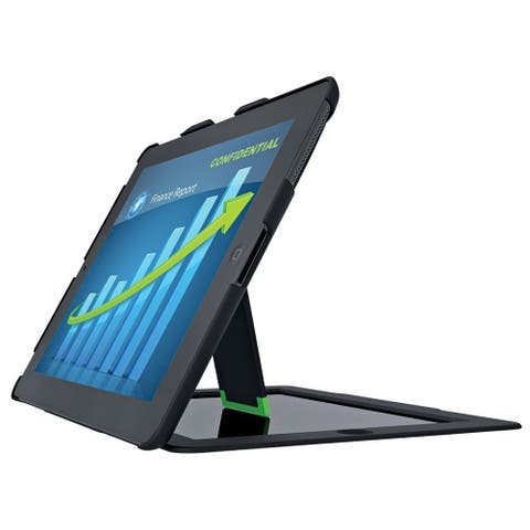 Leitz Landscape View Privacy Case w/ Stand for iPad 2/3/4, Black