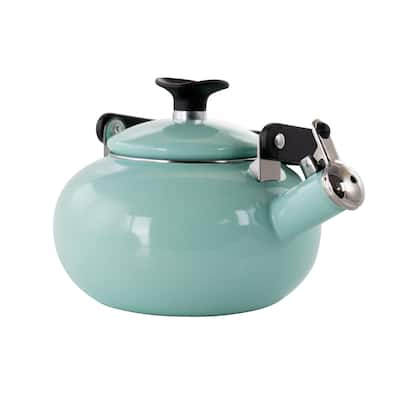 Kenmore 1.5 Quart Enamel On Steel Whistling Tea Kettle in Blue