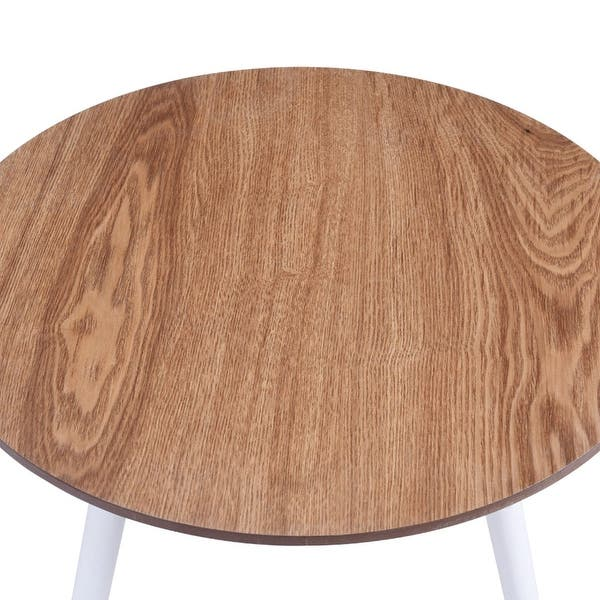 Shop Costway Modern Round Coffee Table Side Tea End Table ...