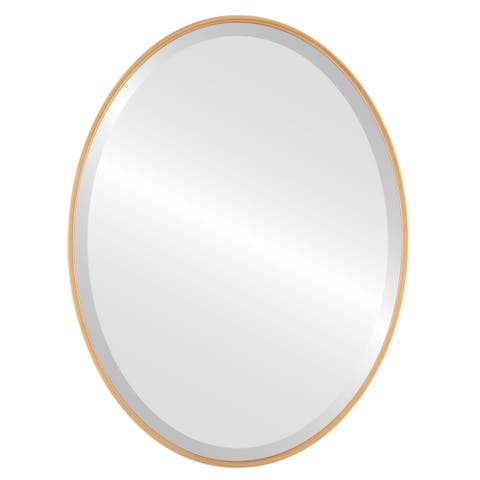 Singapore Framed Oval Mirror - Gold Paint