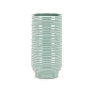IMAX Home 60434 Aria 10 Inch Tall Ceramic Vase - Green - N/A