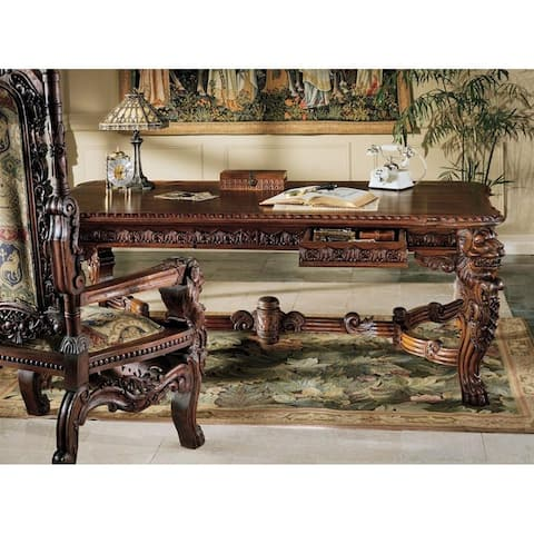 Design Toscano The Lord Raffles Lion Table