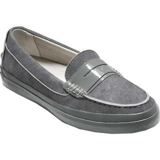 f7605ba7bcf Cole Haan Women s Pinch Weekender LX Stitchlite Loafer Quiet Shade Denim  Nubuck Patent