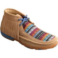 Twisted X Boots Women's WDM0064 Driving Moc Fringe Bootie Serape Fringe Leather/Canvas
