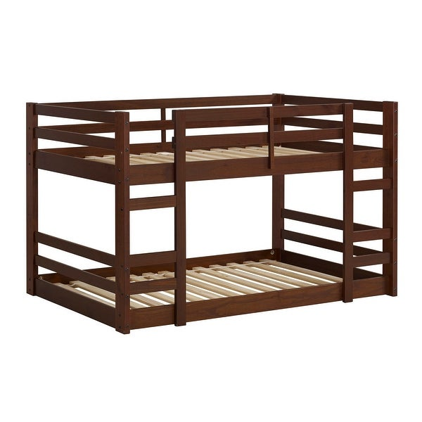 Shop Offex Kids Solid Pine Wood Low Twin Over Twin Bunk