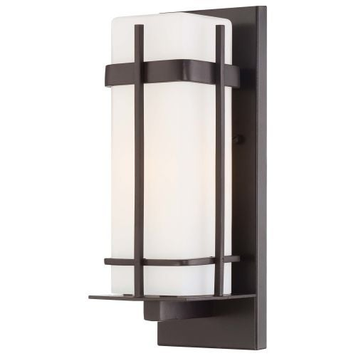 """The Great Outdoors 72352-615B-PL 1 Light 12.5"""" Height Outdoor Wall Sconce from the Sterling Heights Collection"""