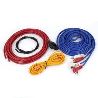 Unique Bargains 4 Pcs Amplifier RCA Audio Speaker Wiring Cable Wires Kits for Car