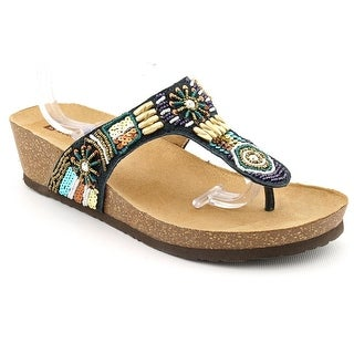 White Mountain Brilliant Women Open Toe Leather Flip Flop Sandal