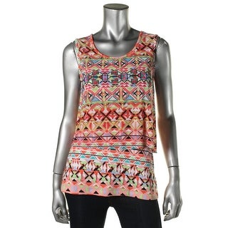 ECI Womens Sleeveless Printed Pullover Top - XS