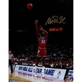 Magic Johnson Signed 1991 All-Star Game Jump Shot 8x10 Photo