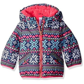 Carters Girls 12-24 Months Fair Isle Bubble Jacket - Multi