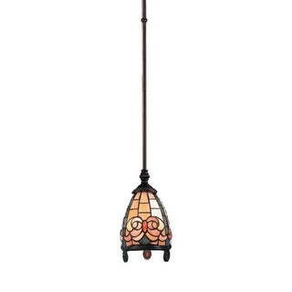 Landmark Lighting 988 Tiffany Single Light Mini Pendant from the Regent Collection - burnished copper