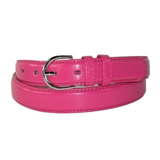 CTM® Women's Leather 1 1/8 Inch Fashion Dress Belt