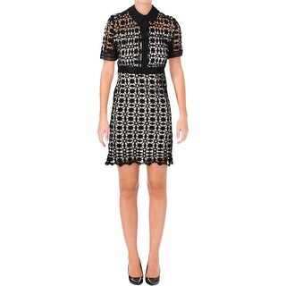 Aqua Womens Wear to Work Dress Lace Illusion
