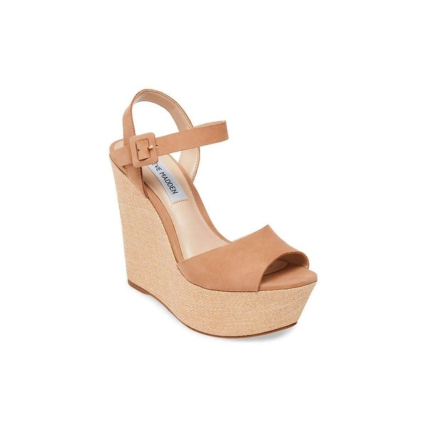 Steve Madden Womens Citrus Leather Open Toe Casual Platform Sandals. Opens flyout.