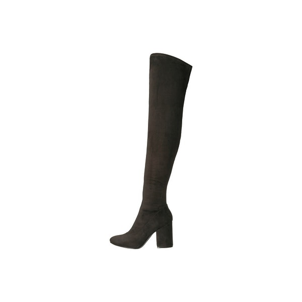 Marc Fisher Womens larrine Fabric Pointed Toe Over Knee Fashion Boots