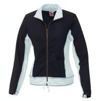 BabyO Blue Women's Size Small S Colorblock Athletic Full Zip Jacket
