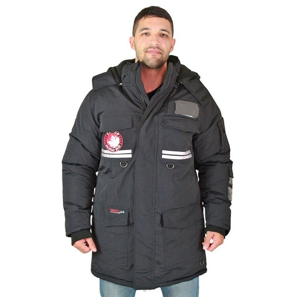 Canada Weather Gear Men's Faux Goose Down Expedition Long Parka ...