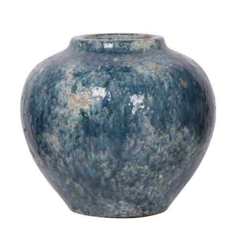 A&B Home Firth Blue Glazed Small Vase