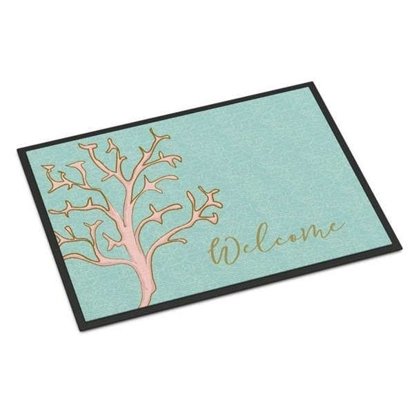 Carolines Treasures BB8556MAT Coral Welcome Indoor or Outdoor Mat - 18 x 27 in.