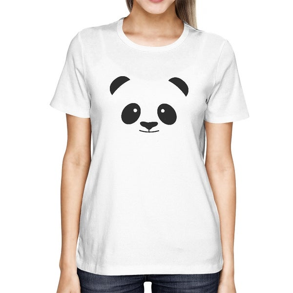 Panda Face T-shirt Back To School Tee Cute Ladies Shirt For Zoo