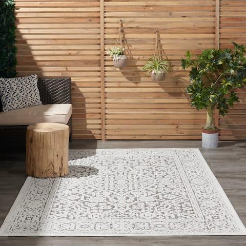 Nourison Calobra Floral Indoor Outdoor Area Rug