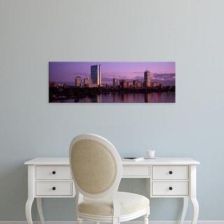 Easy Art Prints Panoramic Image 'City skyline on riverfront, Charles River, Boston, Suffolk, Massachusetts' Canvas Art