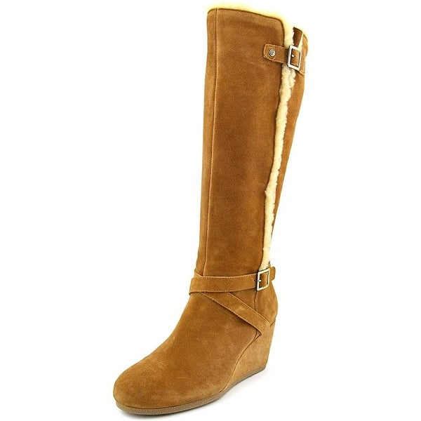 Giani Bernini Womens Pippie Leather Almond Toe Knee High Fashion Boots