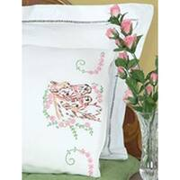 Mare & Colt - Stamped Pillowcases W/White Perle Edge 2/Pkg