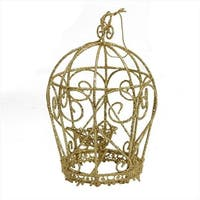 NorthLight 5.5 in. Glittery Gold Birdcage Christmas Ornament
