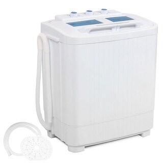 Della Electric Small Mini Portable Compact Washer Washing Machine (33L Washer & 16L Dryer)