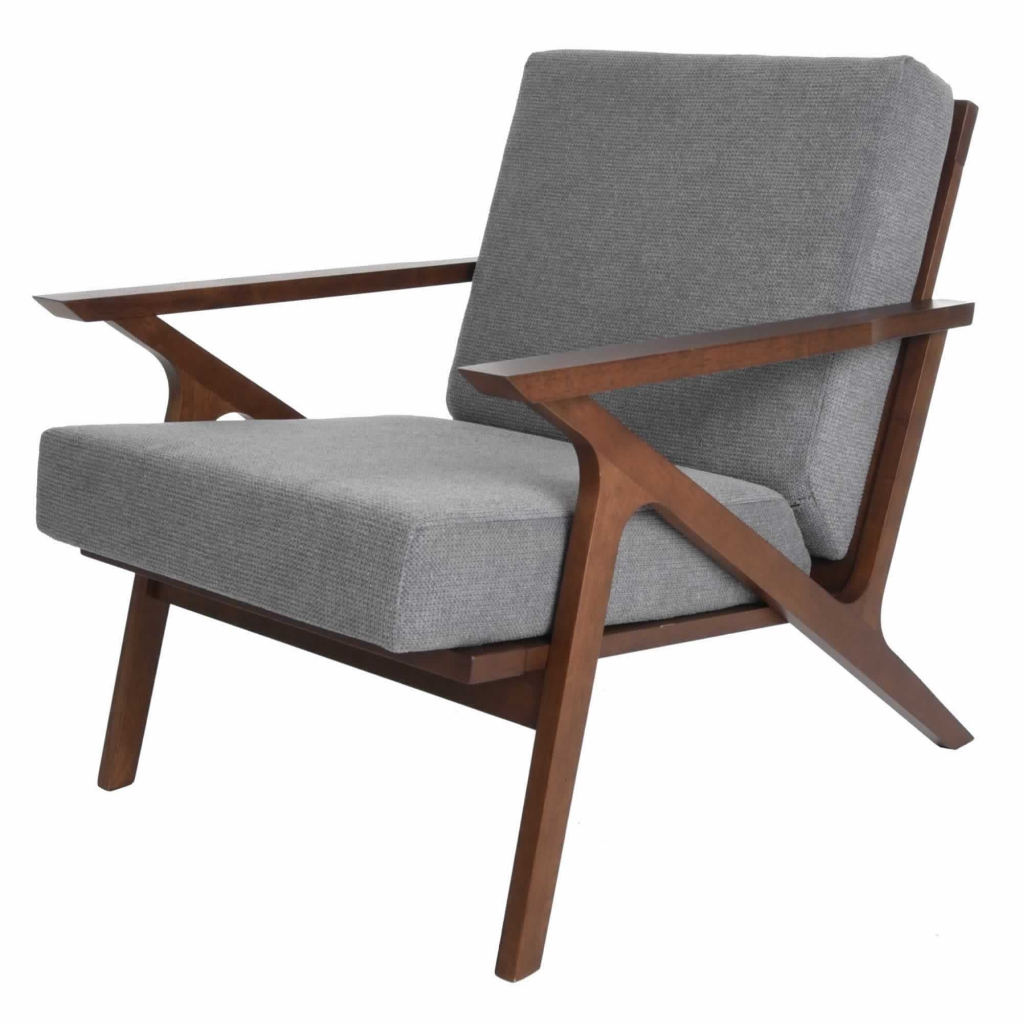 Picture of: Shop Black Friday Deals On Mid Century Modern Armchair Solid Hardwood Upholstered Accent Chair Overstock 31298125